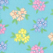 Moda - Good Day  - 6786 -  Modern Floral Bunches on Turquoise - 22370 12 - Cotton Fabric